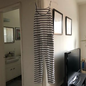 Wildfox Black and White Striped Jumpsuit